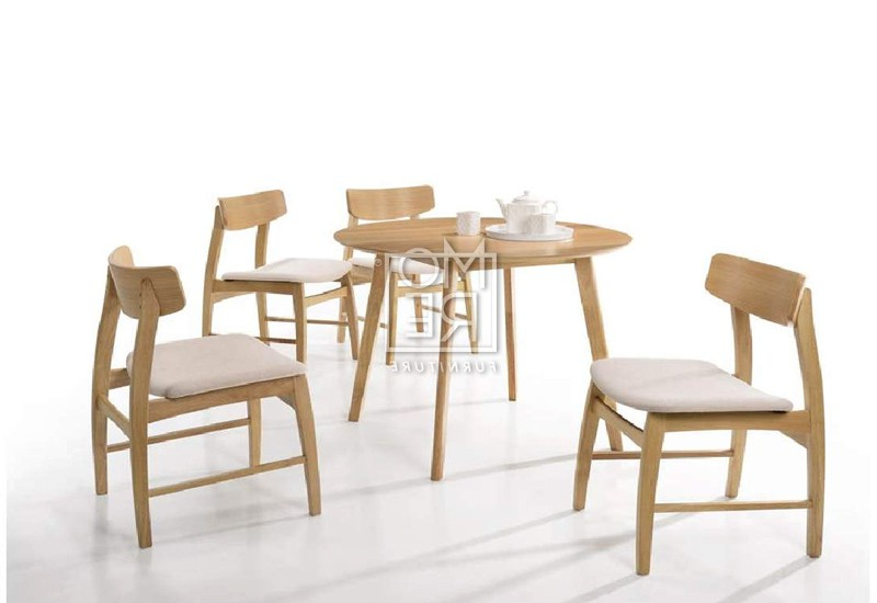 Jessie 5Pce Rubber Wood & Oak Veneer Dining Suite – More Furniture With Regard To Popular Oak Dining Suite (View 8 of 20)