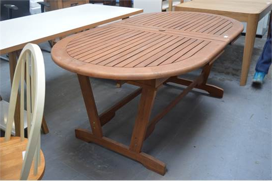 John Lewis Naples Solid Wooden Oval Large Extending Outdoor Dining Pertaining To Most Recent Extending Outdoor Dining Tables (View 9 of 20)