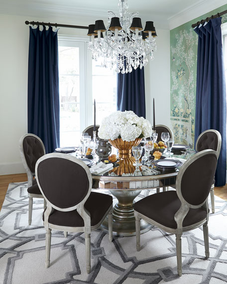 John Richard Collection Lisandra Antiqued Mirrored Round Dining Table With Famous Mirrored Dining Tables (View 3 of 20)