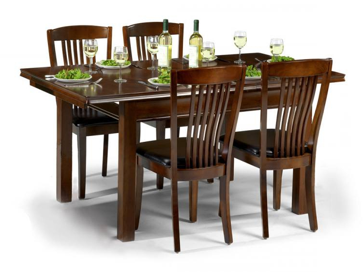 Julian Bowen – Canterbury Extending Dining Table With 4 Or 6 Chairs Throughout Current Mahogany Dining Table Sets (View 4 of 20)