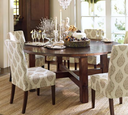 Karennarvasa With Jaxon 5 Piece Round Dining Sets With Upholstered Chairs (Gallery 3 of 20)