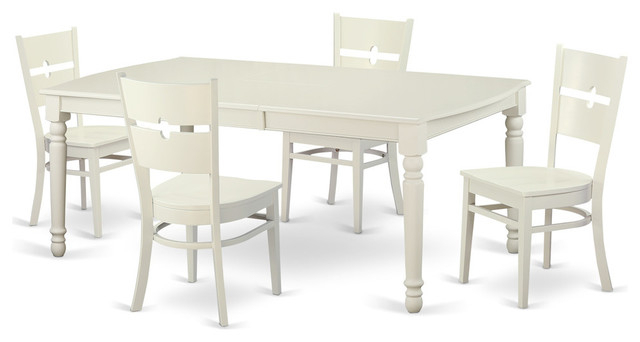 Kirsten 5 Piece Dining Sets In Current Kirsten Rectangular Dining Table Set, White – Traditional – Dining (Gallery 4 of 20)