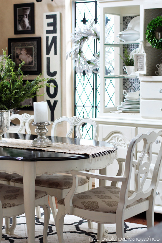 Kirsten 6 Piece Dining Sets With Well Liked Dining Table Makeover, Take One (View 16 of 20)