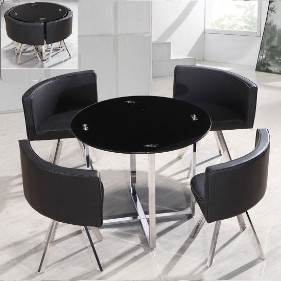 Kitchen Corner In Black Glass Dining Tables And 4 Chairs (View 14 of 20)