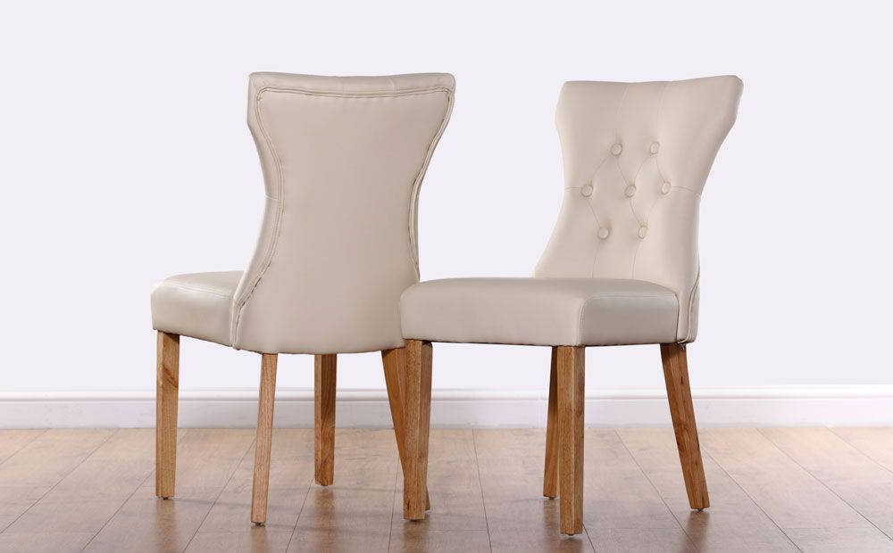 Kitchen In Widely Used Oak Leather Dining Chairs (View 2 of 20)