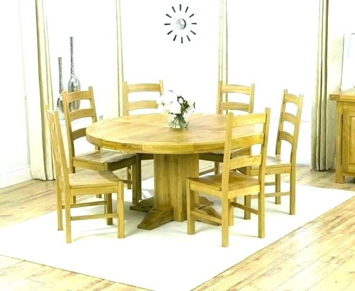 Kitchen Table With 6 Chairs Round Dining Table Seats 6 Kitchen Table Throughout 2017 6 Seat Round Dining Tables (View 2 of 20)