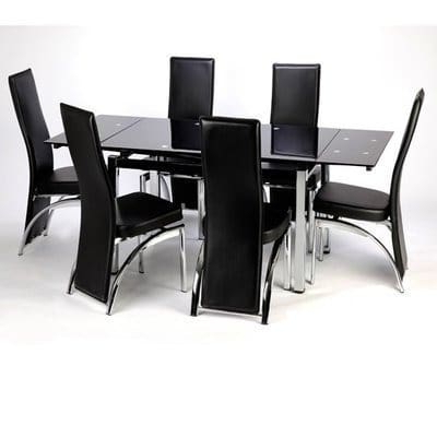 Konga Online Shopping Intended For Most Up To Date Extendable Glass Dining Tables And 6 Chairs (View 10 of 20)