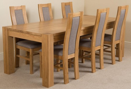 Kuba Large Dining Set 6 Stanford Chairs (View 7 of 20)