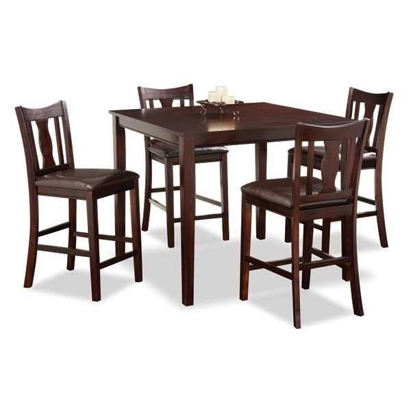 Kyle 5 Piece Counter Height Set Wf2 8pub 5pc (View 15 of 20)