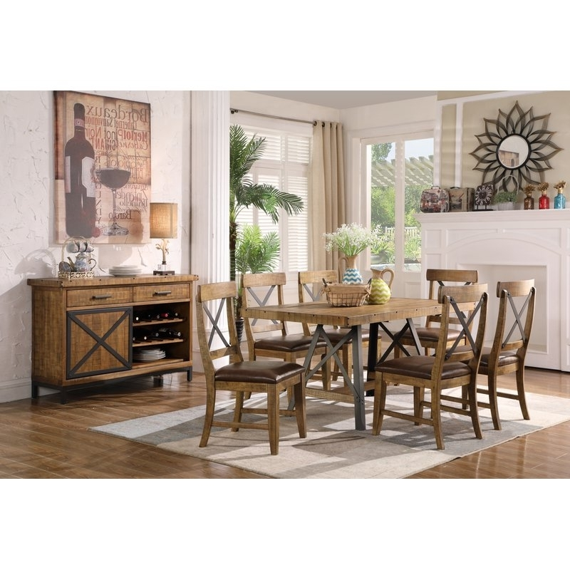 Laguna Reclaimed 7 Piece Solid Wood Dining Set (View 4 of 20)