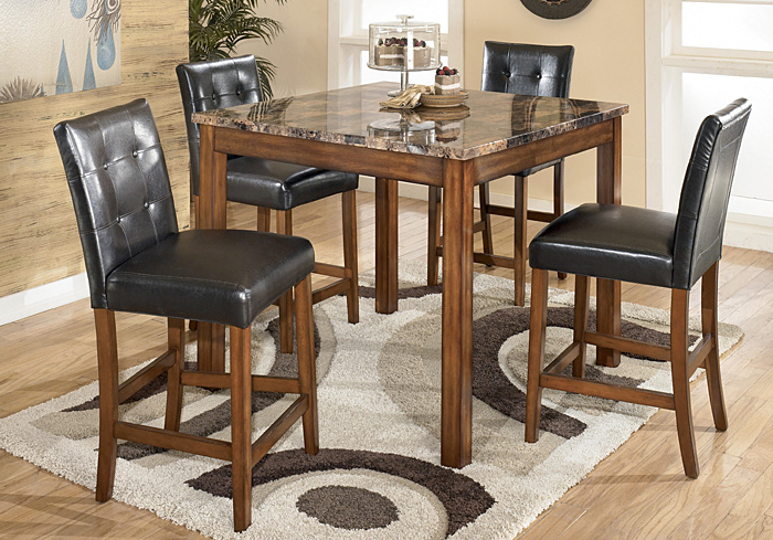 Langlois Furniture – Muskegon, Mi Theo 5 Piece Counter Height Dining Set With Fashionable Jaxon 5 Piece Extension Counter Sets With Fabric Stools (Gallery 12 of 20)