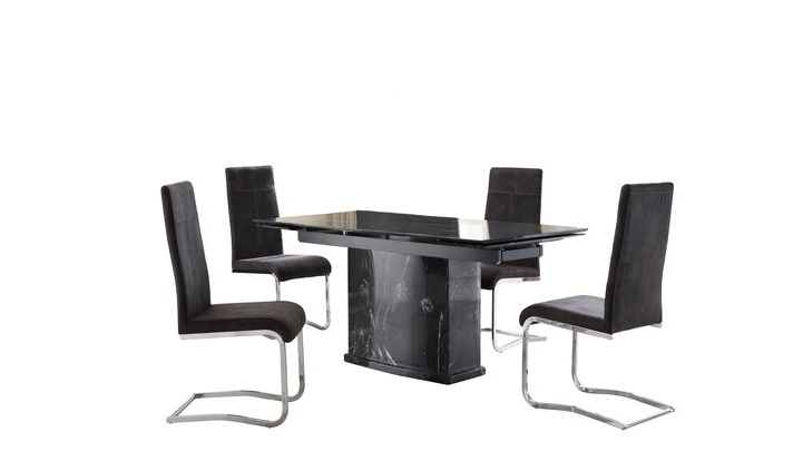 Lanza Extending Dining Table & 4 Lanza Chairs – Scs Regarding Recent Scs Dining Room Furniture (View 6 of 20)