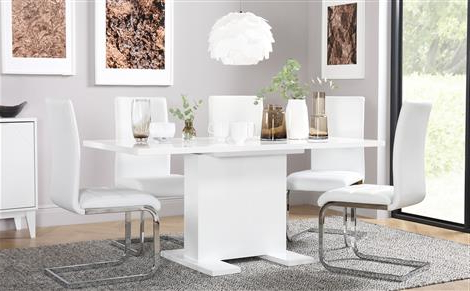 Lapdrp With Best And Newest White Dining Tables (View 9 of 20)