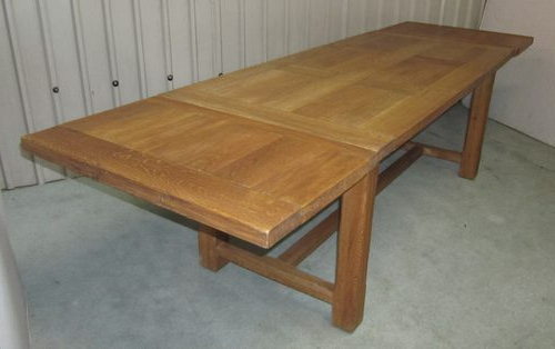 Large French Extending Oak Dining Table – Antiques Atlas Regarding Latest French Extending Dining Tables (Gallery 2 of 20)