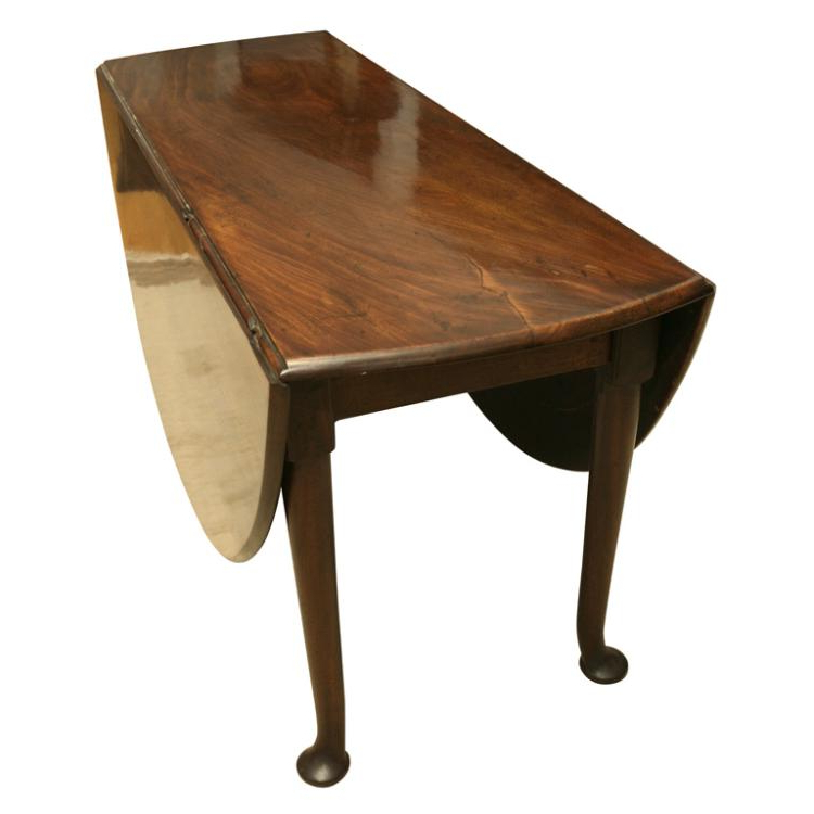 Large Queen Anne Red Walnut Dining Table Ca (View 10 of 20)