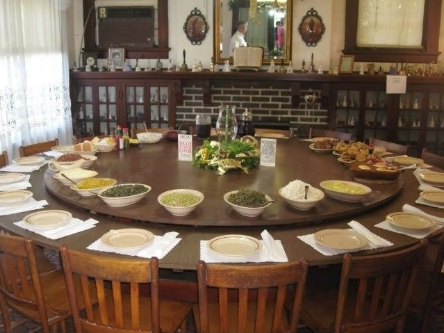 Large Round Dining Table Seats 10 – Foter (View 13 of 20)
