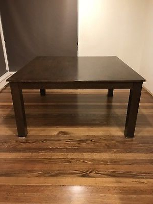 Large Square Dining Table 8 Seater Solid Timber Dark Wood – $ (View 12 of 20)