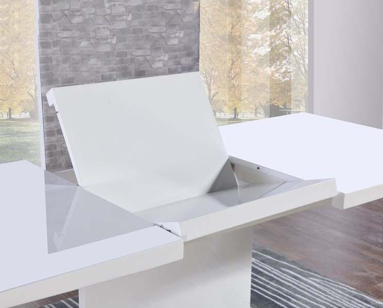 Large White Gloss Dining Tables For Famous Buy Mark Harris Hayden White High Gloss Rectangular Extending Dining (View 9 of 20)
