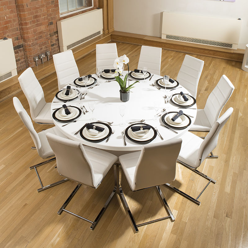 Large White Round Dining Tables With Well Known Dining Tables (View 13 of 20)