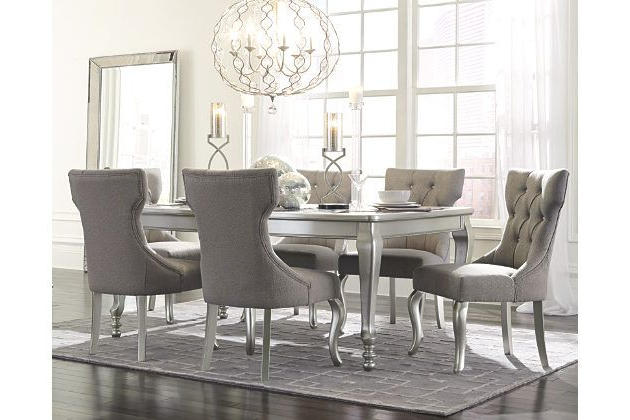 Lassen 7 Piece Extension Rectangle Dining Sets Regarding Most Popular The 5 Piece Coralayne Dining Room Extension Table Set Relishes The (Gallery 3 of 20)