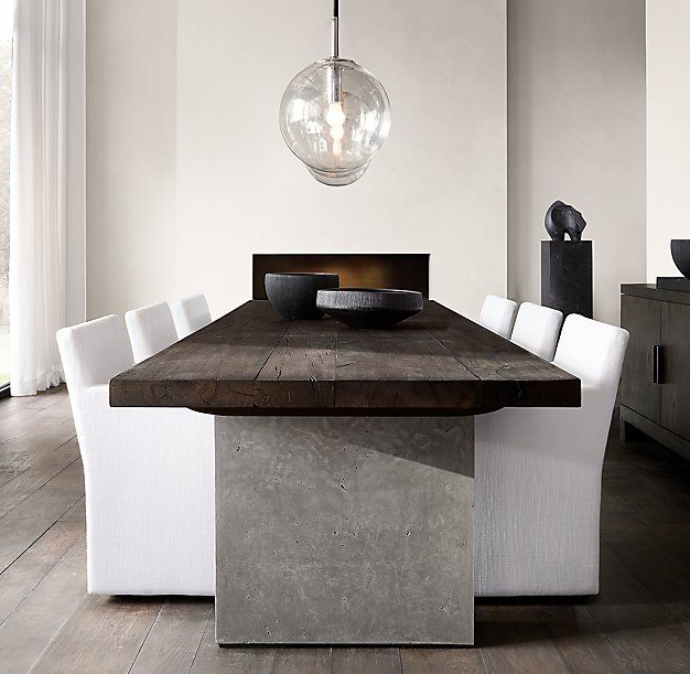 Lassen Extension Rectangle Dining Tables Inside Popular Rh Modern's Concrete Pier Rectangular Dining Table:postmodern Design (View 9 of 20)