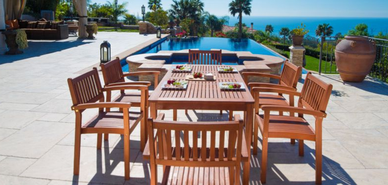 Last Week's Bestselling Outdoor Dining Furniture Pertaining To Well Known Jaxon Grey 5 Piece Round Extension Dining Sets With Wood Chairs (View 10 of 20)