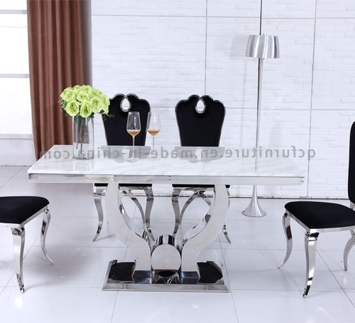 Latest 10 Seat Dining Tables And Chairs With Regard To China Modern Big Size 10 Seater Dining Room Table White Marble (View 15 of 20)