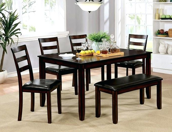 Latest 6 Piece Kitchen Table Set Pc Sets With Bench Excellent Dining Inside Market 6 Piece Dining Sets With Side Chairs (View 9 of 20)