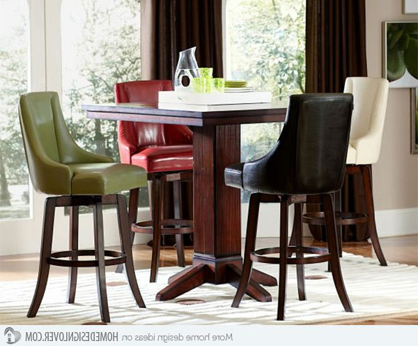 Latest A Burst Of Colors From 20 Dining Sets With Multi Colored Chairs Inside Norwood 6 Piece Rectangular Extension Dining Sets With Upholstered Side Chairs (View 8 of 20)
