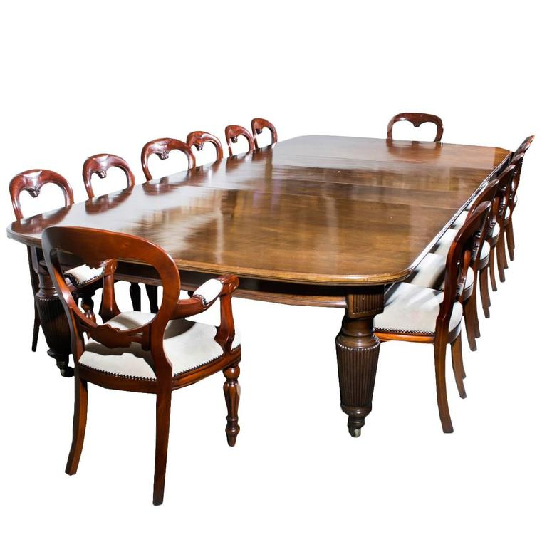 Latest Antique Extending Dining Table 14 Chairs, Circa 1880 At 1Stdibs With Extending Dining Tables With 14 Seats (View 12 of 20)