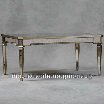 Latest Antique Mirrored Glass Dining Table – Buy Glass Mirror Bedside For Mirror Glass Dining Tables (View 2 of 20)