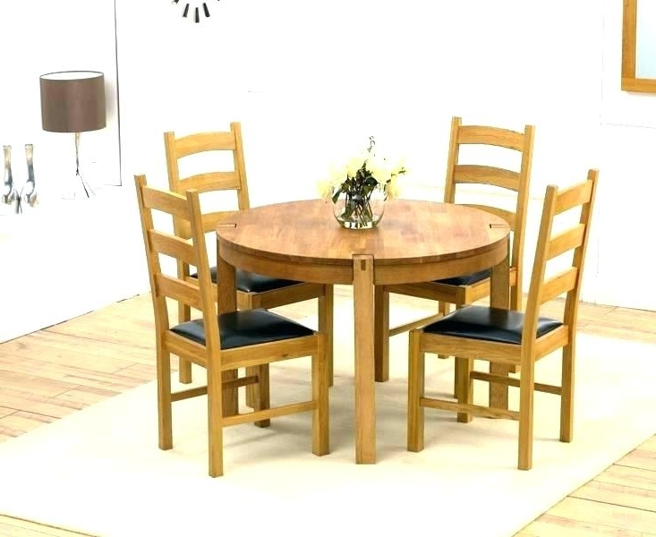 Latest Black Circular Dining Tables Inside Small Round Black Kitchen Table And Chairs Dining Tables Circle (View 6 of 20)