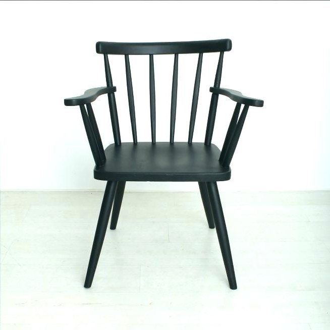 Latest Black Spindle Chair Magnolia Home Furniture Spindle Back Side Chair Inside Magnolia Home Spindle Back Side Chairs (View 3 of 20)