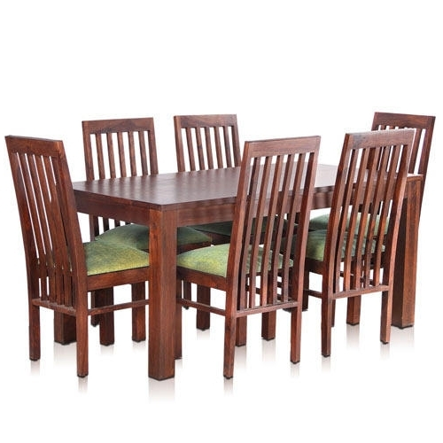 Latest Bombay Solid Wood Dining Table With 6 Chairs – Mynesthome Dot Com With 6 Chairs Dining Tables (Gallery 15 of 20)