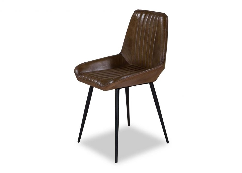 Latest Brown Leather Dining Chairs In Brown Leather Dining Chair – Coco – Ez Living Furniture (View 12 of 20)