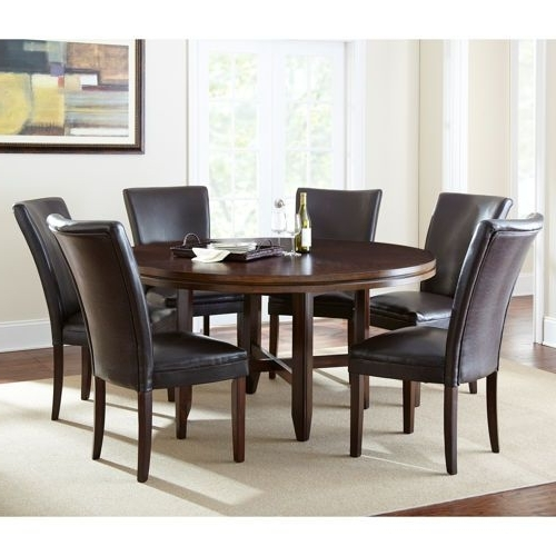 "Latest Caden 7 Piece Dining Sets With Upholstered Side Chair Within Caden 7 Piece Dining Set With 62"" Table Valid 9/1/13 Through 9/30/13 (Gallery 1 of 20)"