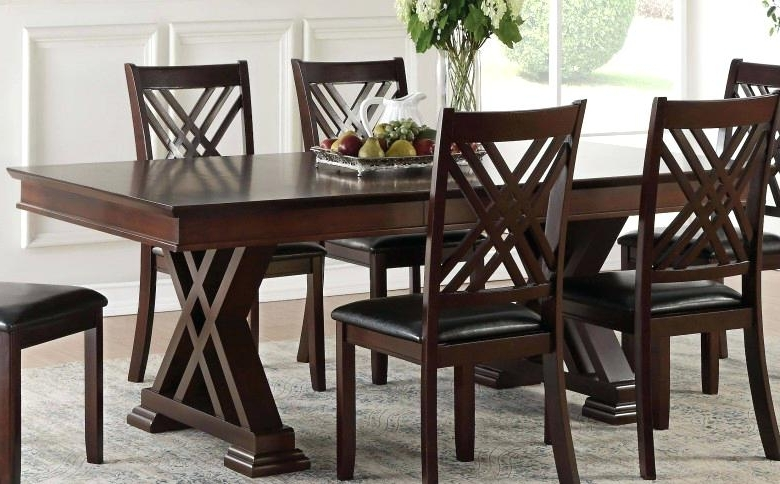 Latest Caira Black Round Dining Tables Pertaining To Espresso Dining Table Espresso Dining Table Lasalle Espresso (View 13 of 20)