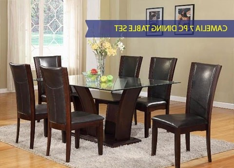 Latest Camelia 1210 Glass Top Table And 6 Chairs With Leon Dining Tables (View 7 of 20)