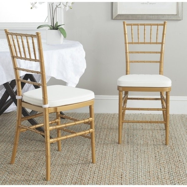 Latest Carly Side Chairs In Shop Safavieh Country Classic Dining Carly Gold Dining Chairs (Set (Gallery 1 of 20)