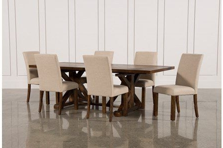 Latest Chapleau Ii 7 Piece Extension Dining Tables With Side Chairs Intended For Mallard 7 Piece Extension Dining Set (View 4 of 20)