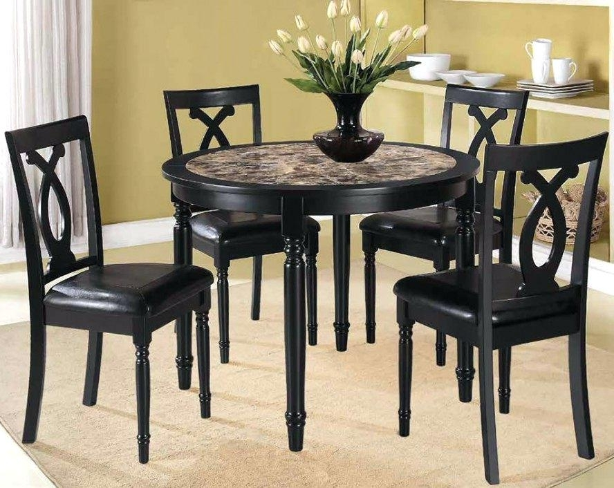 Latest Cheap Dining Tables Sets With Regard To Round Wooden Dining Table Sets Wooden Kitchen Table And Chairs Round (Gallery 15 of 20)