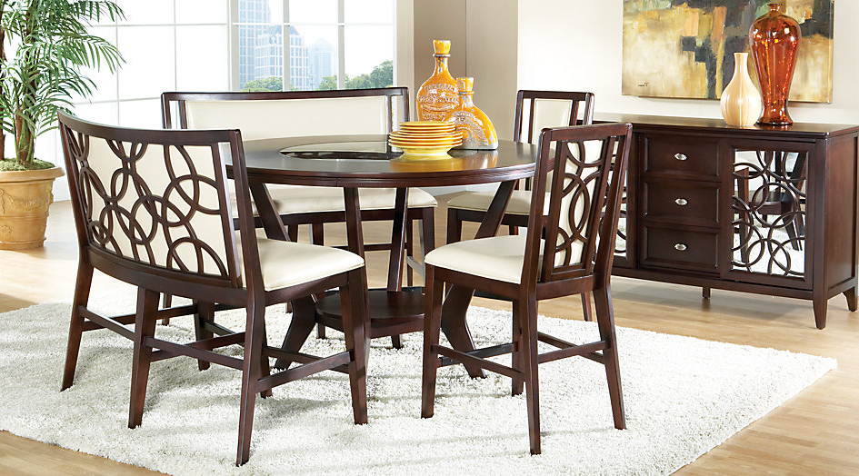Latest Cindy Crawford Home Highland Park Ebony 5 Pc Counter Height Dining Intended For Crawford 6 Piece Rectangle Dining Sets (View 15 of 20)