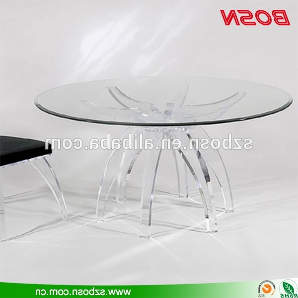 Latest Clear Plastic Dining Tables Inside Round Clear Acrylic Dining Table Perspex Dining Table – Buy Perspex (View 4 of 20)