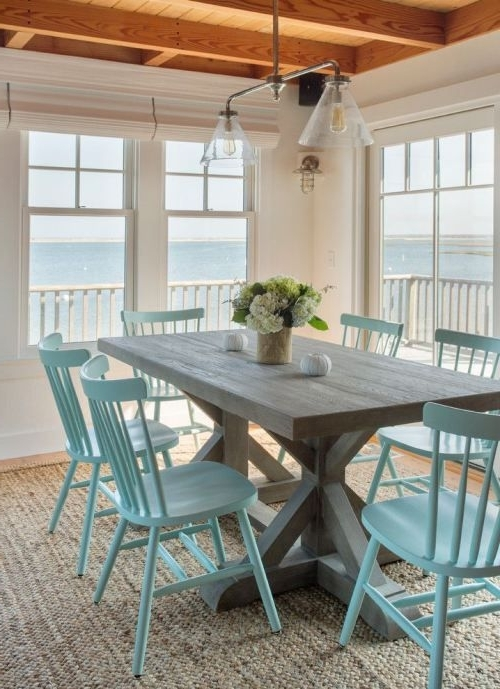 Latest Coastal Dining Tables For Trestle Tables In The Dining Room :: (Gallery 1 of 20)