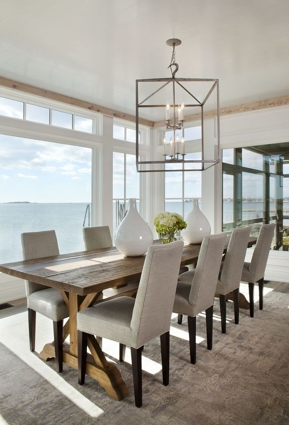 Latest Coastal Dining Tables With Coastal Style: Hamptons Style 'au Naturale' … (View 2 of 20)