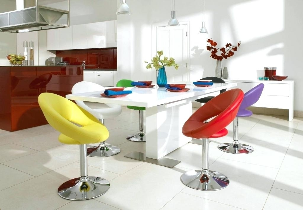 Latest Colourful Dining Tables And Chairs Throughout Light Colored Formal Dining Room Sets Modern Colorful Cream Table (View 8 of 20)