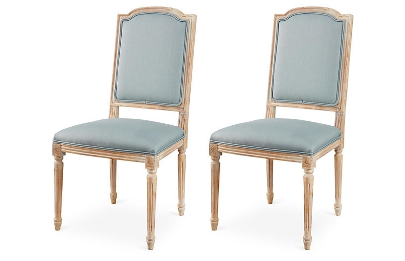 Latest Cora Side Chairs In Cora Linen Side Chairs, Pair – The Hamptons Kitchen – Week  (View 13 of 20)