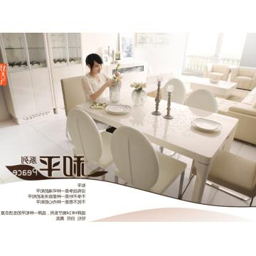 Latest Cream High Gloss Dining Tables For Kt14, China Tempered Glass In Cream Color And Mdf Dining Table With (View 12 of 20)