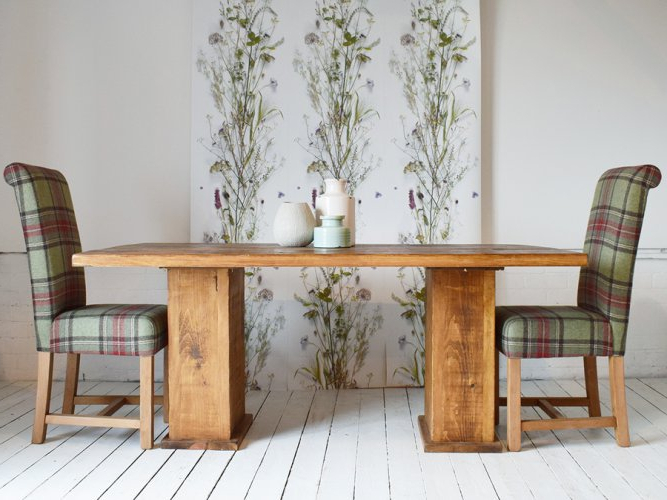 Latest Cube Dining Tables With Regard To H&f Plank Cube Table – H&f Plank Dining Room Furniture (View 9 of 20)