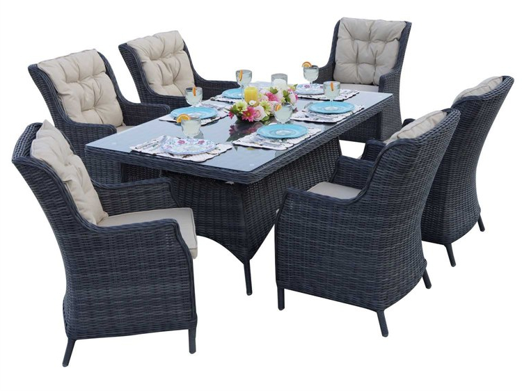 Latest Darlee Outdoor Living Standard Valencia Wicker Dining Set (View 3 of 20)